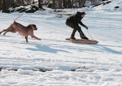 Jan på snowboard